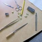 Werkzeuge zur Erstellung der Silikonform